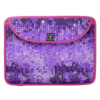 Metallic Purple Sequins Look Disco Mirrors Bling Sleeves For MacBook Pro