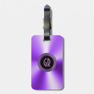 Metallic Purple Stainless Steel Look Luggage Tag