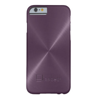 Metallic Purple Stainless Steel Metal Look Barely There iPhone 6 Case