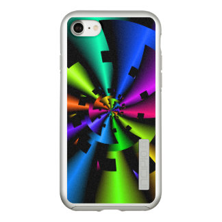 Metallic Rainbow Fractal Incipio DualPro Shine iPhone 8/7 Case