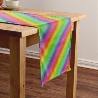 metallic rainbow glitter texture short table runner