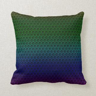 Metallic Rainbow Graphite Honeycomb Carbon Fibre Throw Pillow