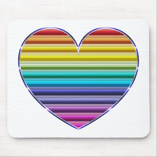 Metallic Rainbow Heart Mousepad