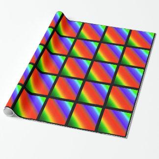 Metallic Rainbow Stripes Wrapping Paper