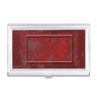 Metallic Red Business Card Holder