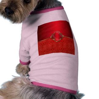 Metallic red,gold,chic,elegant,beautiful,template, dog tee shirt