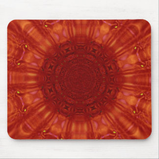Metallic Red Ruby Jewel Art Mouse Pad