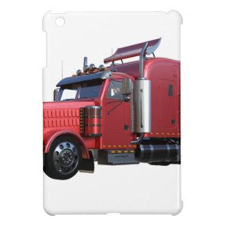 Metallic Red Semi Tractor Traler Truck Case For The iPad Mini