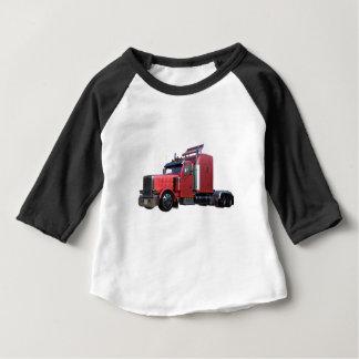Metallic Red Semi TruckIn Three Quarter View Baby T-Shirt