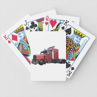 Metallic Red Semi TruckIn Three Quarter View Bicycle Playing Cards