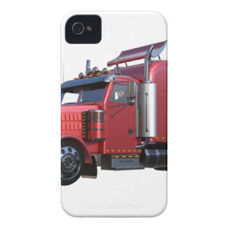 Metallic Red Semi TruckIn Three Quarter View Case-Mate iPhone 4 Cases