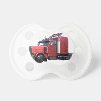 Metallic Red Semi TruckIn Three Quarter View Dummy
