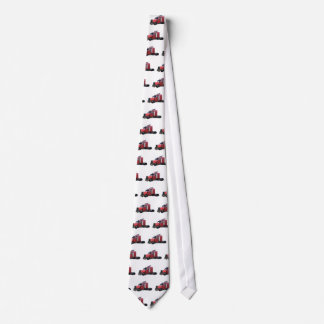 Metallic Red Semi TruckIn Three Quarter View Tie