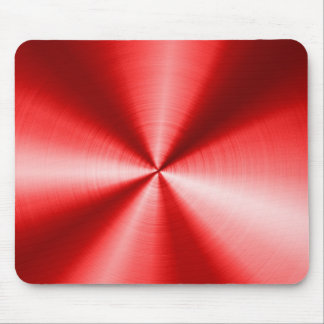 Metallic Red Stainless Steel Look Pattern Mouse Pad