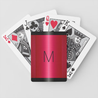 Metallic Red Stainless Steel Metal Look Poker Deck