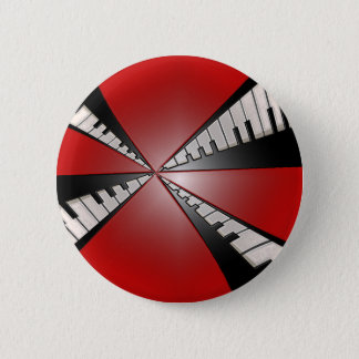 Metallic Red with Black Keyboards Music Button