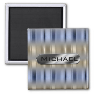 Metallic Reflections and Nameplate ID287 Square Magnet