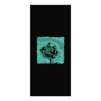 Metallic Rose Rack Card