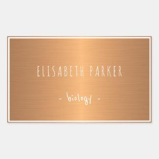 Metallic shinny gradient copper notebooks label