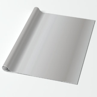 Metallic Silver Bells Wrapping Paper