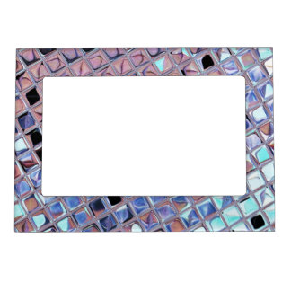 Metallic Silver Disco Ball Mirrors Faux Magnetic Picture Frame