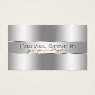 Metallic Silver Professional Elegant Business Card