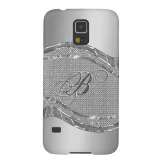 Metallic Silver Steel And Diamonds Background Galaxy S5 Cover