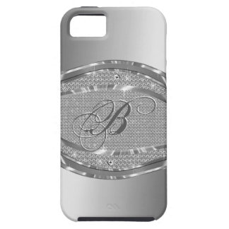 Metallic Silver With Diamonds Pattern iPhone 5 Covers
