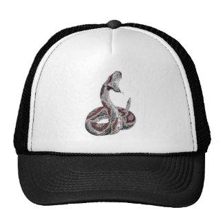 Metallic Snake Mesh Hats