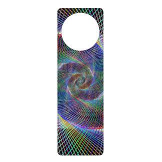 Metallic spiral door hangers