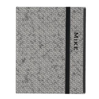 Metallic Stamped Steel Look iPad Case