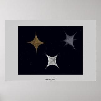 Metallic Stars Poster