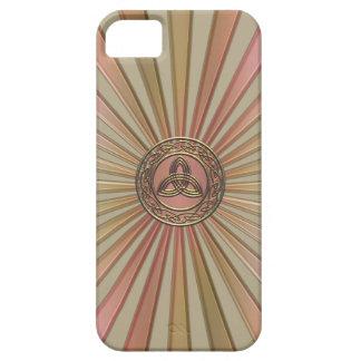 Metallic Sun Ray Mandala and Celtic Trinity Circle iPhone 5 Cover