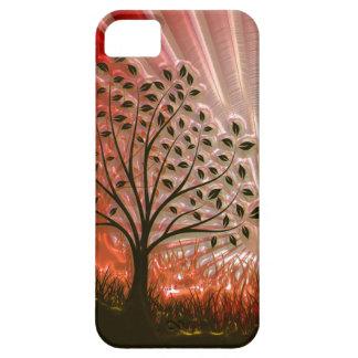 Metallic Sunset Tree In The Sun iPhone 5 Cover