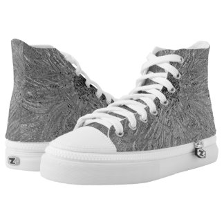 Metallic Surface High Tops