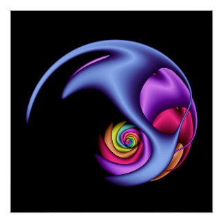 Metallic Swirl Poster