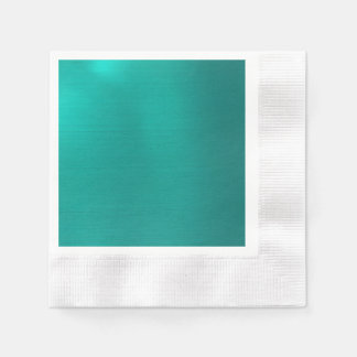 Metallic Teal Disposable Serviette