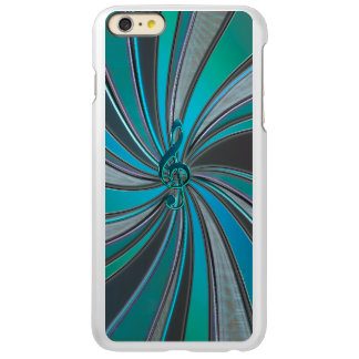 Metallic Teal Mystic Music Clef iPhone 6 Plus Case