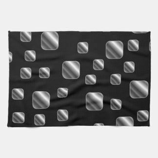 Metallic tile background tea towel