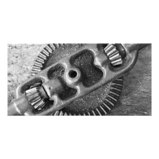Metallic tool custom photo card