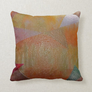 Metallic Triangles Throw Pillow