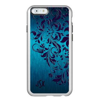 Metallic Turquoise Brushed Aluminum Purple Lace Incipio Feather® Shine iPhone 6 Case