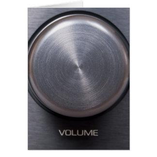 Metallic Volume Knob Greeting Card