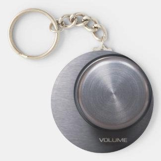 Metallic Volume Knob Key Chains