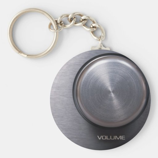 Metallic Volume Knob Key Chains