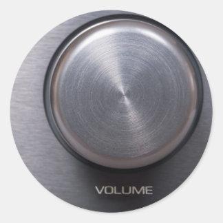 Metallic Volume Knob Round Stickers