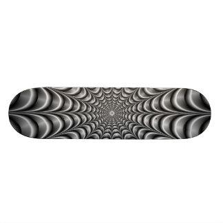 Metallic Web Skateboard