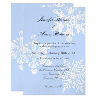 Metallic Winter Snowflake Wedding Invitation