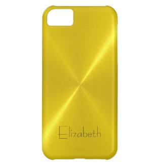Metallic Yellow Stainless Steel Metal Look iPhone 5C Case
