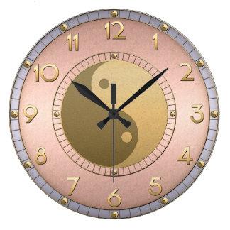 Metallic Yin Yang Clock